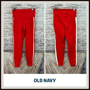 Old Navy Active Red Go Dry High Waist Leggings